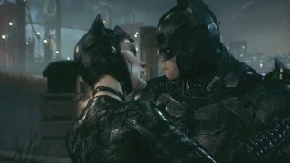 Batman Arkham Knight Batman and Catwoman Kiss and Say Goodbye