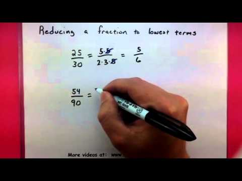 Algebra - Reducing a fraction to lowest terms