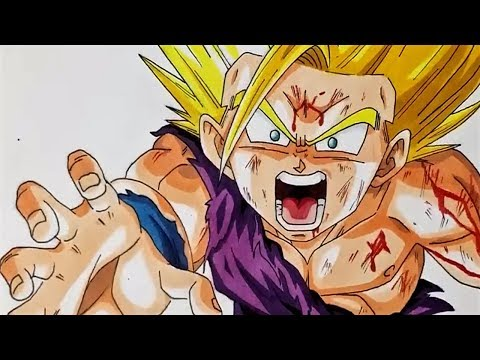 Gohan Ssj2 Como Desenhar E Colorir Dragon Ball Super Youtube