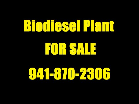 Biodiesel Processor Plant for Sale