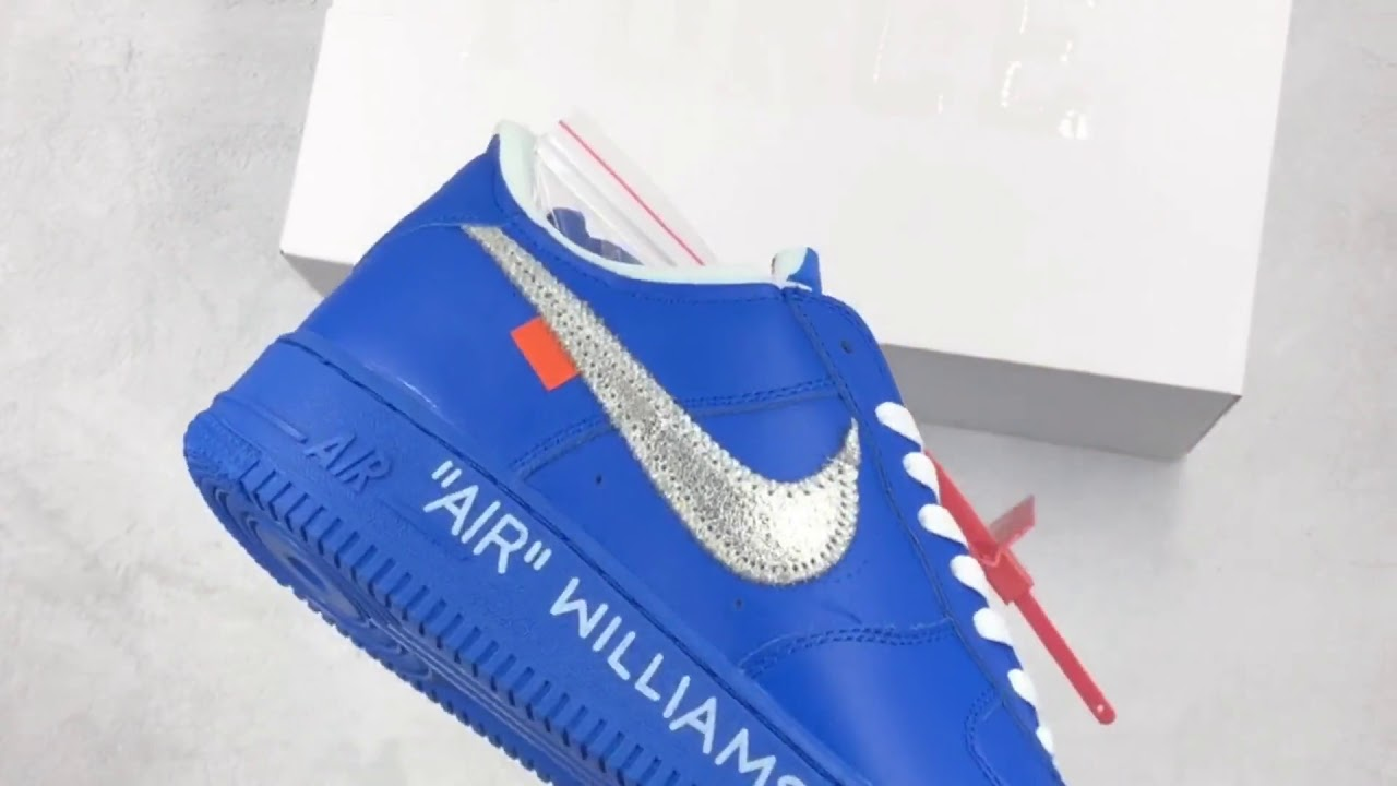 Off White x Nike Air Force 1 Low MCA Blue Silver Review