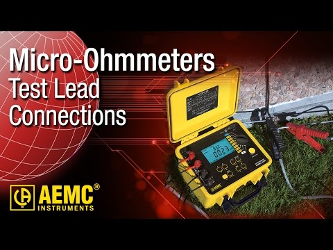 AEMC® - Micro-Ohmmeter Test Lead Connections
