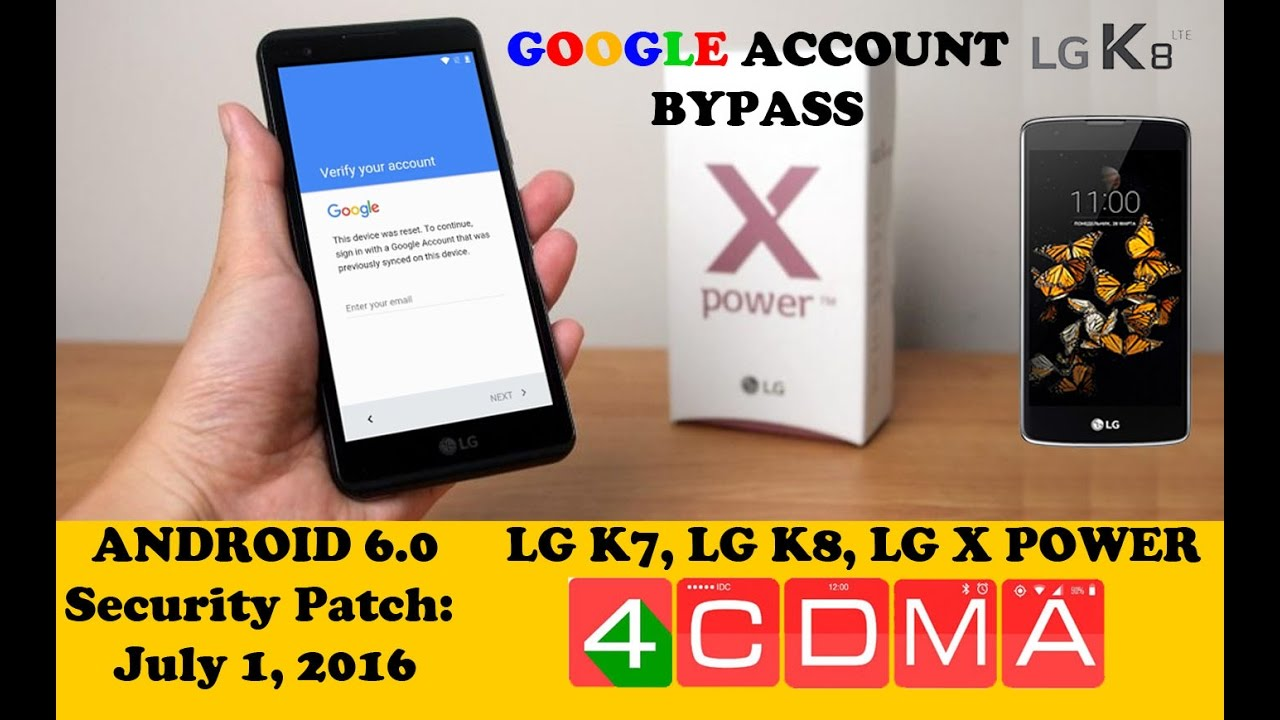 LG K3 K7 K8 X Power Tribute5 FRP Google Account Bypass! Android 6 0! NEW  LAST UPDATE! by 4CDMA