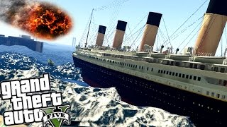 TITANIC VS TSUNAMI W GTA 5! | GTA V PC MODY