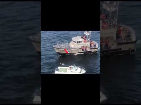 Video Shows Coast Guard Rescuing Victims From Sinking Boat In NJ