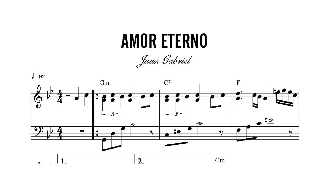 letra de la cancion amor eterno:
