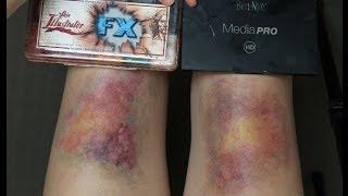 Bruise Makeup: Comparing Skin Illustrator FX with Ben Nye Ultimate FX palette (alcohol vs. creme)