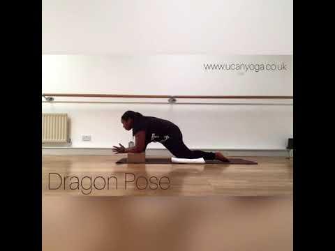 yin yoga dragon pose  youtube