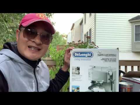 Cuộc Sống Mỹ - Review Delonghi Coffee Maker EC701 | A Gift From My Daddy | DUC VU USA