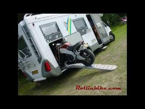 Motor in camper - systeem van Rollinbike.com