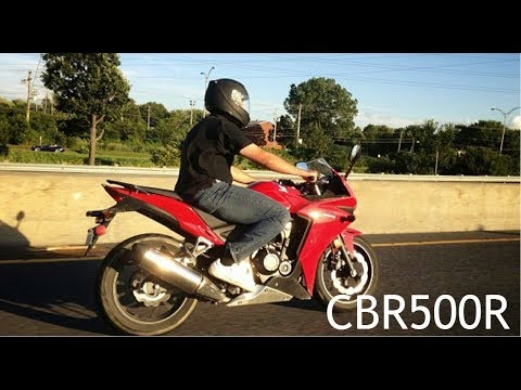 Honda CBR500R Motorcycle Streets of Montreal Canada