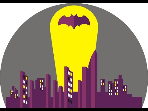 How to Draw Landscape Flat Design Gotham City