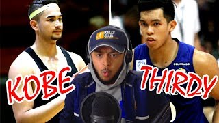 KOBE PARAS SHOWS THIRDY RAVENA HOW ITS DONE!! KOBE VS THIRDY HIGHLIGHTS REACTION