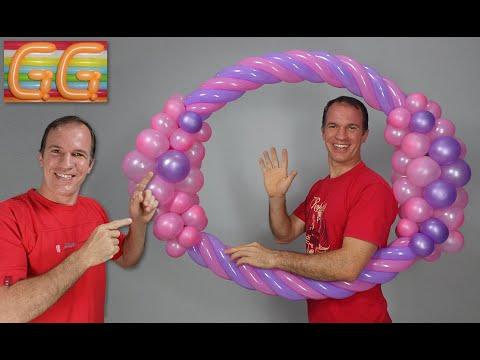 marco para fotos gigante para fiestas - decoracion con globos - globoflexia