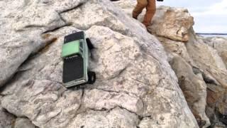 4wheel steer ford climbing rock @ Reid state park