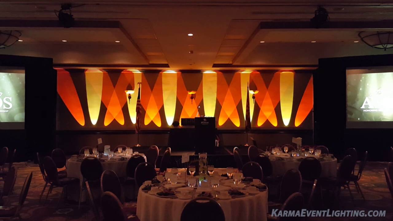 Slim Beam Uplighting For Stage Backdrop By Karma Event Lighting