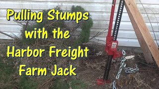 Pulling Stumps with a Harbor Freight Farm Jack by @GettinJunkDone
