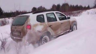Проходимость Renault DUSTER 1.6 4WD по снегу в горку