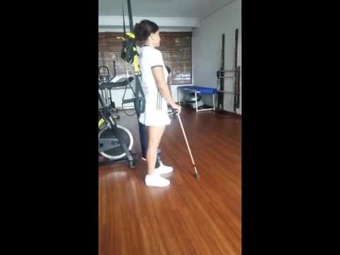 Stroke Patient Lee Mehl On Therapy / Walk With Stick