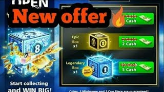 8ball pool latest trick 5 cash unlimited legendary box open