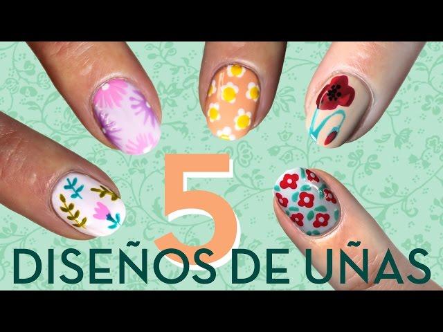 10 diseños de uñas de flores paso a paso - Paperblog