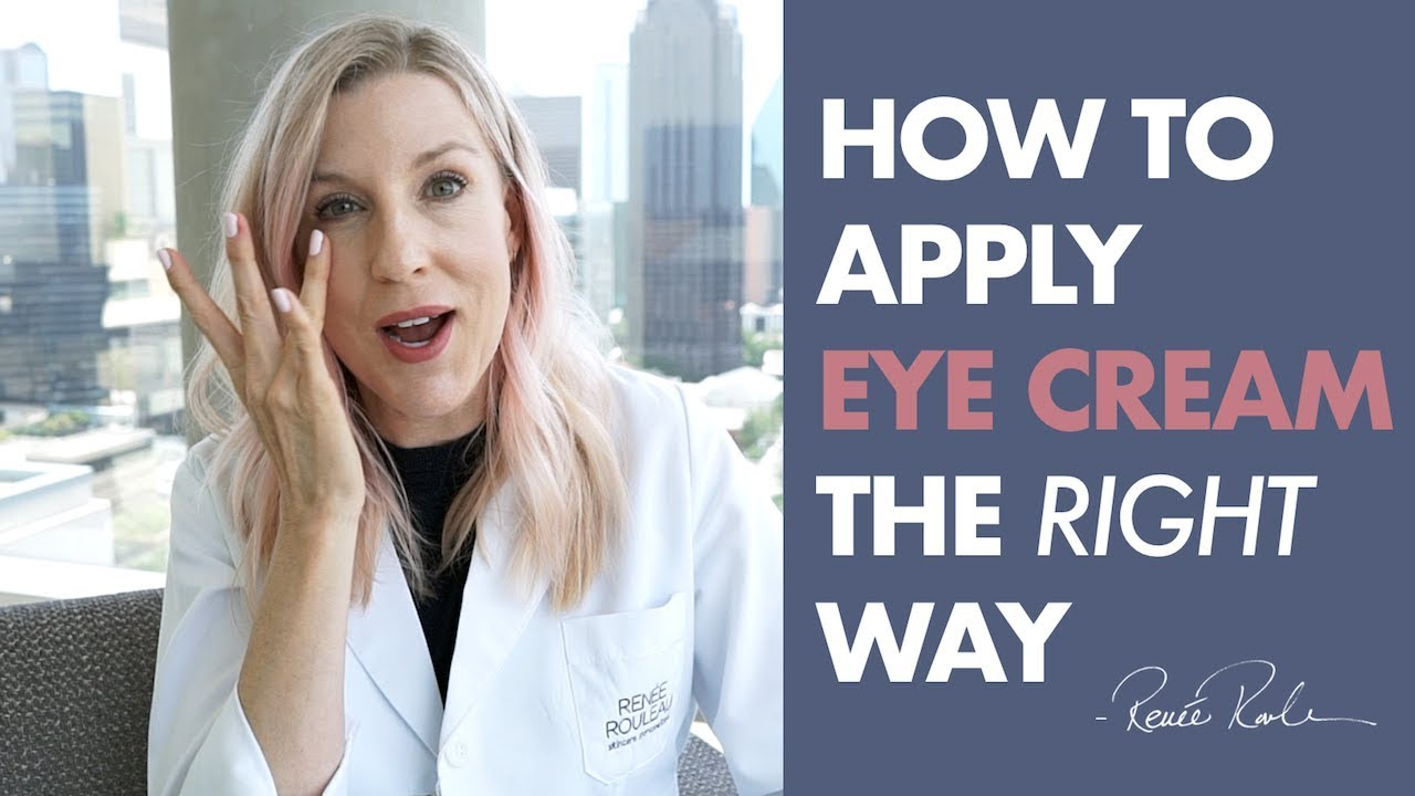 How to Apply Eye Cream, The RightWay