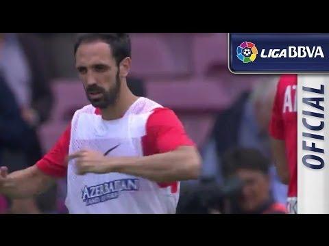 Atlético de Madrid warm up
