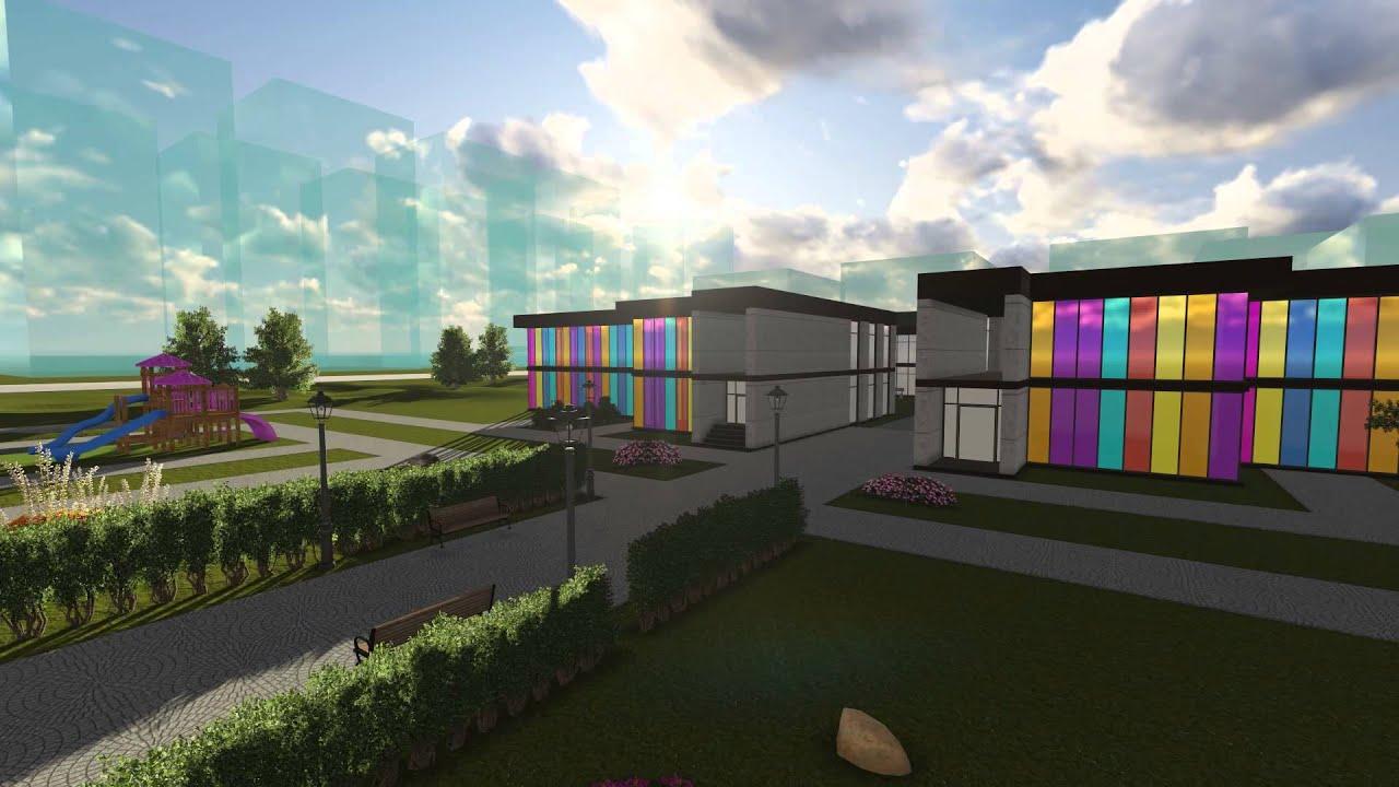 Kindergarten Exterior Design Animation