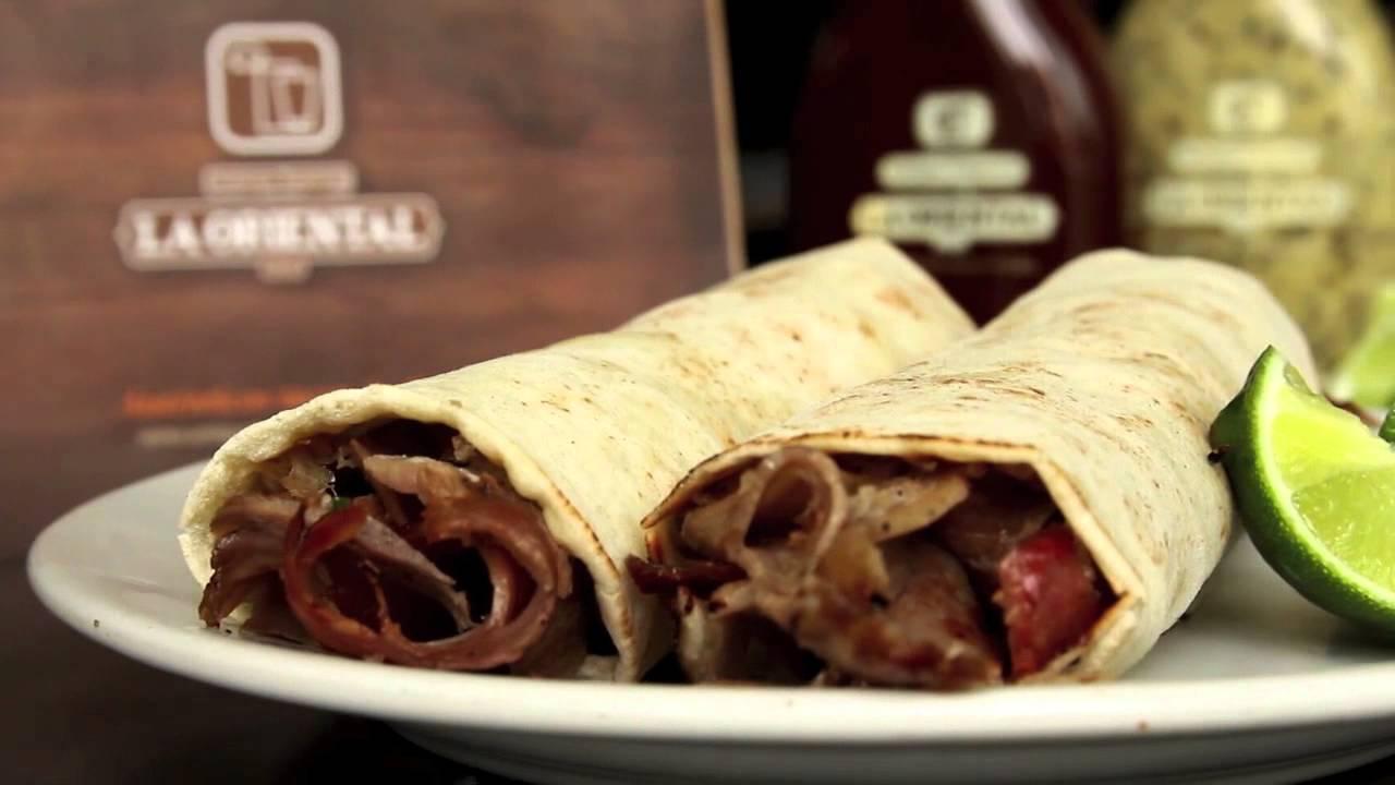 plato de tacos árabes en Puebla en La Oriental