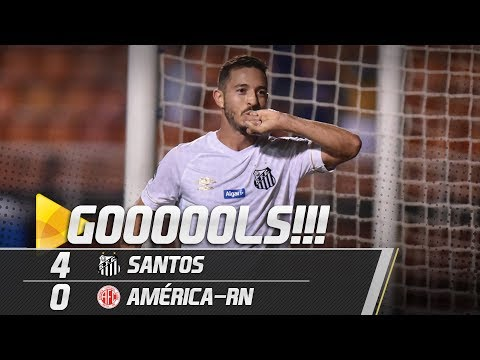 Santos 4 x 0 América-RN | GOLS | Copa do Brasil (07/03/19)