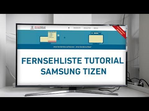 Samsung TV (TIZEN) - Senderliste installieren