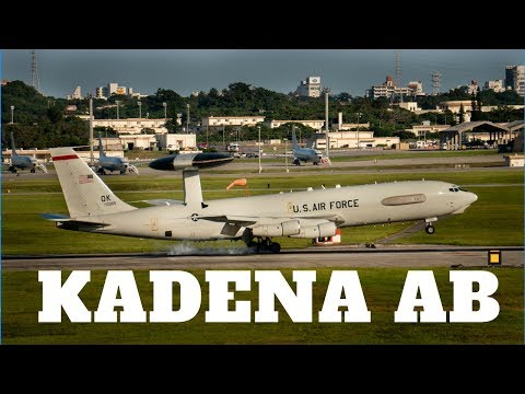 [4K] Kadena Air Base Plane Spotting Featuring U.S. Air Force E-3, F-22, C-130, C-17 and KC-135