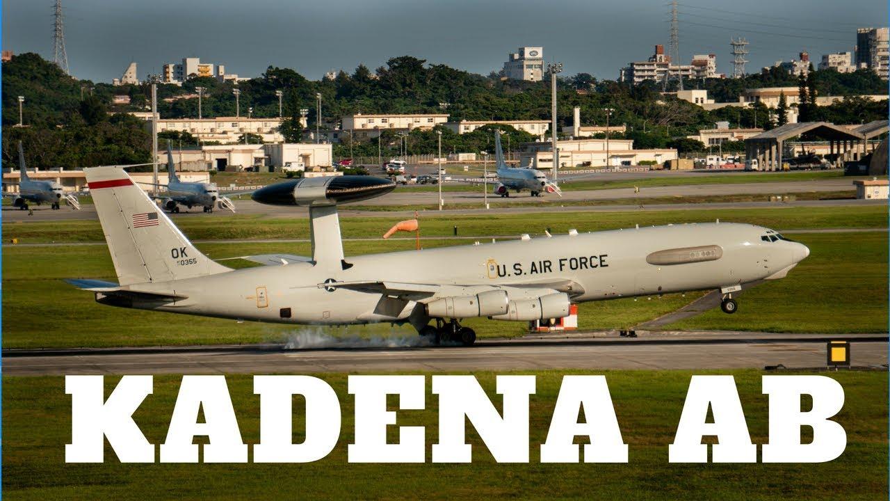 4K] Kadena Air Base Plane Spotting Featuring U.S. Air Force E-3, F ...
