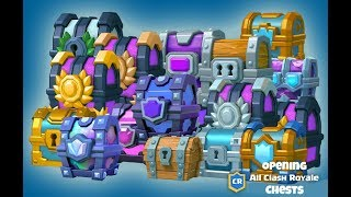 OPENING EVERY CHEST IN CLASH ROYALE | TECH ANDROID |