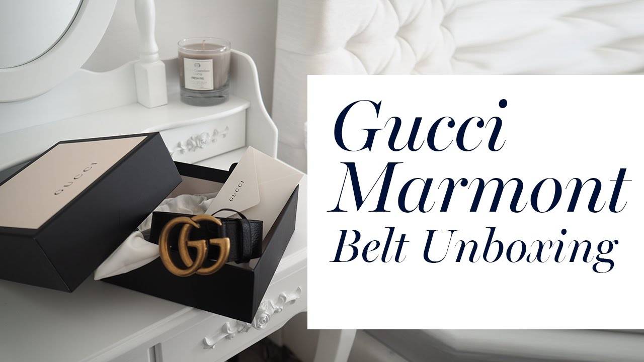 6a09ed850156c2 Gucci Marmont Belt Unboxing - YouTube