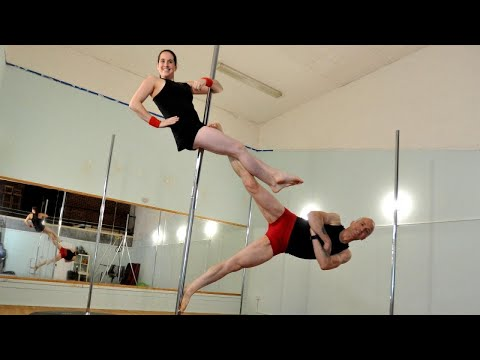 Dad and Daughter Take Pole Dancing Lessons Together