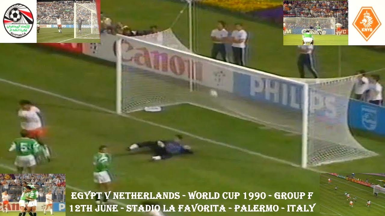 Egypt V Netherlands World Cup Finals Group F 12th June 1990 Stadio La Favorita Palermo Italy Youtube