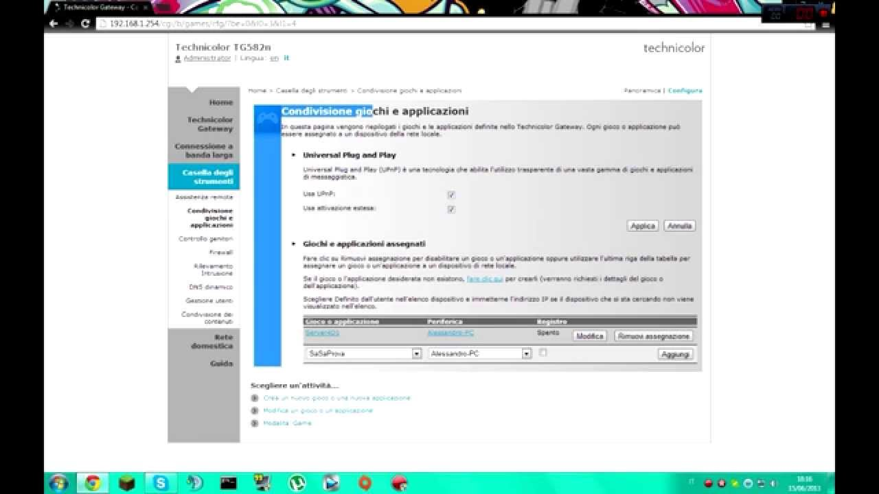 Aprire le porte fastweb technicolor doovi for Porte utorrent