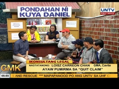 "Pano pag-ayaw pumirma sa ""quit claim""? | Ikonsulta Legal"