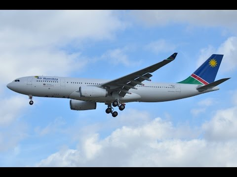 Frankfurt Main (EDDF) to Hosea Kutako Windhoek (FYWH) FSX Air Namibia A330 Morning Landing