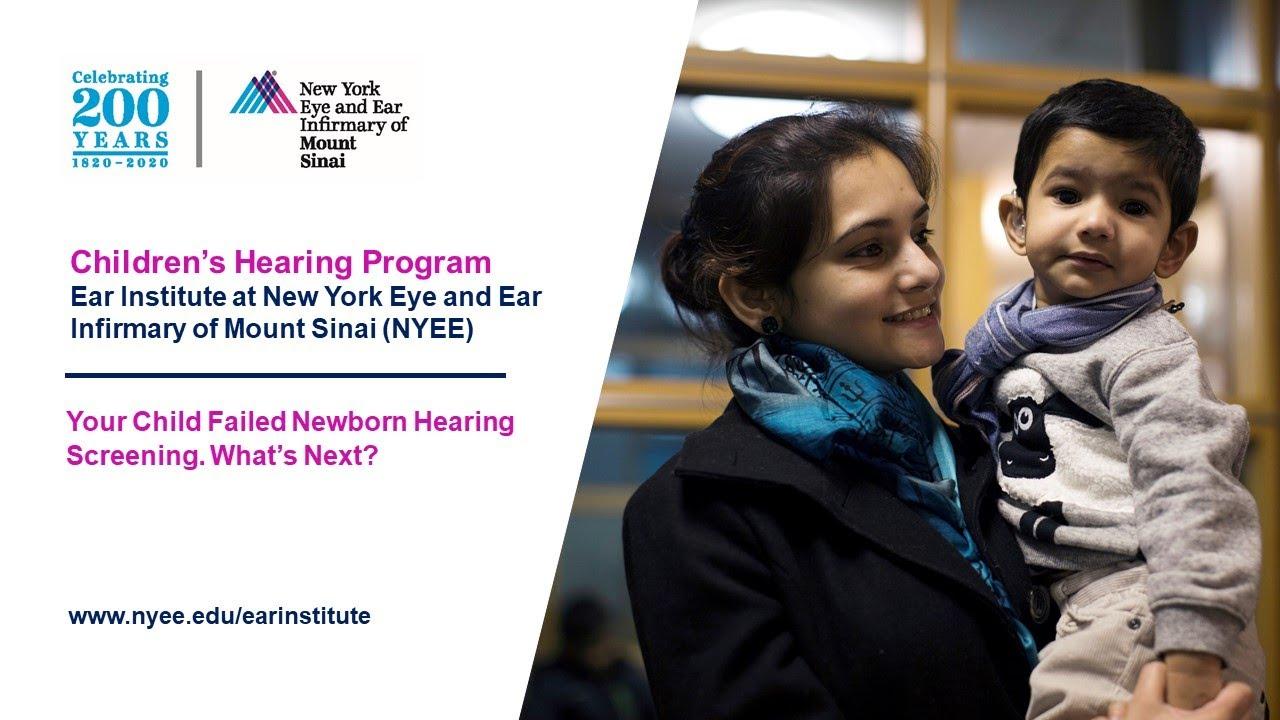 Part 1: Your Child Failed Newborn Hearing Screening. What's Next?