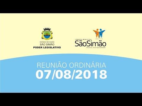 REUNIAO ORDINARIA 07/08/2018