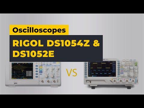 Rigol DS1054Z vs DS1052E Oscilloscopes - Comparison & Review