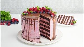 Малиновый Торт со Cвежими Ягодами