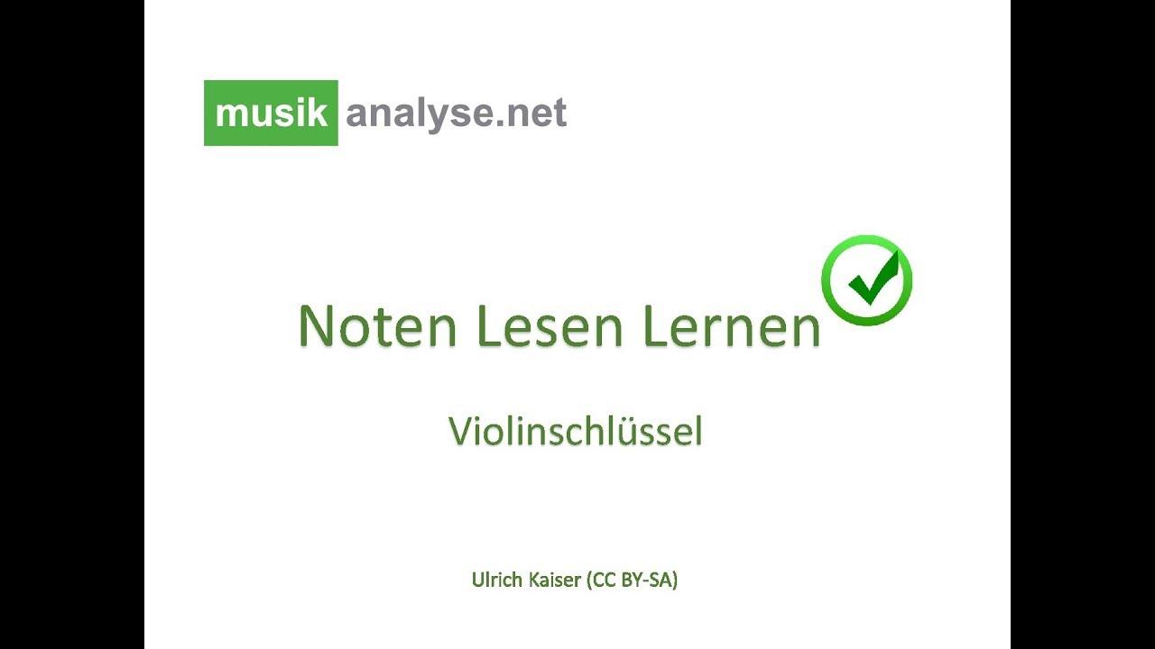 Noten lesen lernen im Violinschlüssel - YouTube