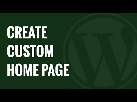 How to Create a Custom Home Page in WordPress - 동영상
