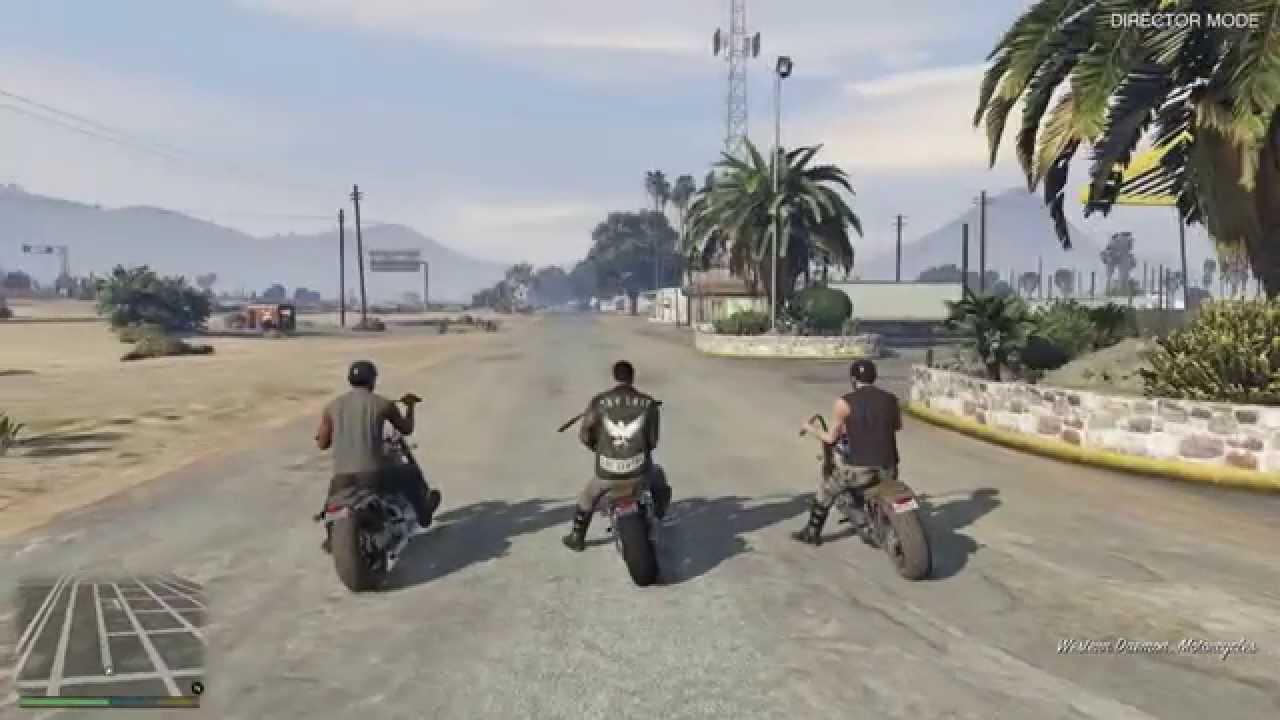 GTA V: Biker Gang Mod - YouTube