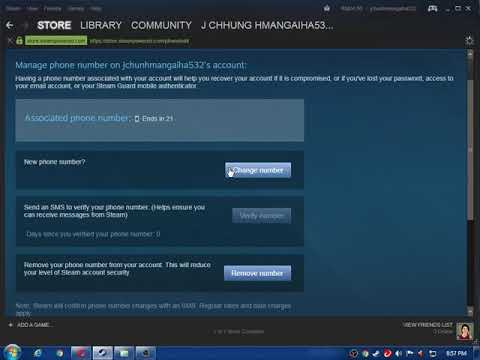 how to change steam phone number - YouTube