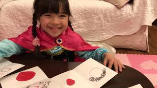 Maia made Valentine's cards for who she loves. Who got the biggiest...