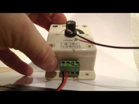 How to install a dimmer to LED strip lighting - Installation
